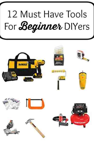 Here, I've rounded up 12 must have tools for beginner DIYers that are sure to get you started.