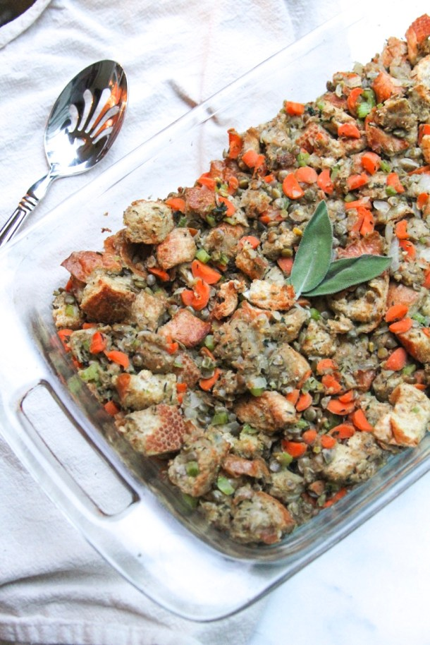 Vegan Lentil Stuffing | Healthy & Easy