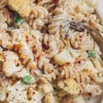 creamy vegan cauliflower alfredo