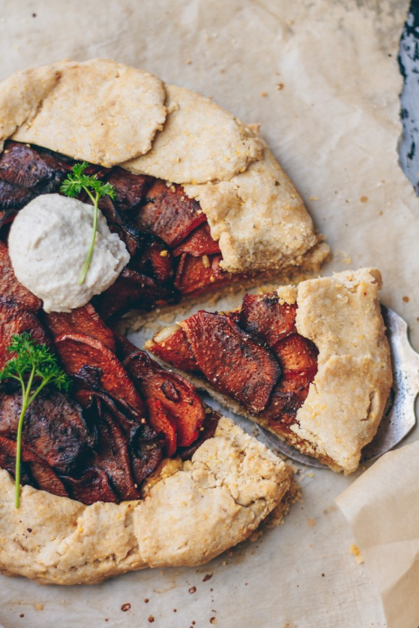 sweet potato cashew cream galette