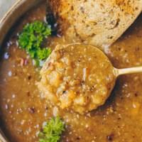 Creamy Vegan Lentil Soup
