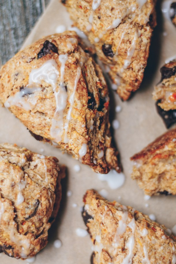 chocolate chip carrot cake scones