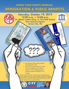 Know Your Rights flyer for Oct 2019