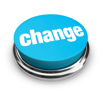 A blue button with the word Change on it