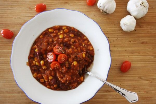 Chili sin Carne aus Linsen