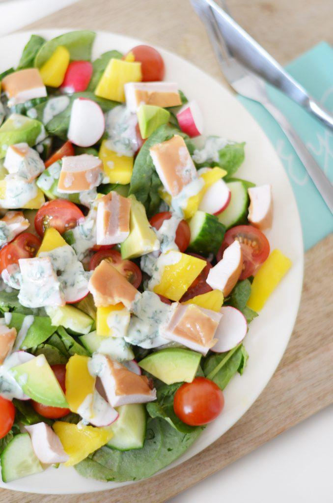 salade kip mango
