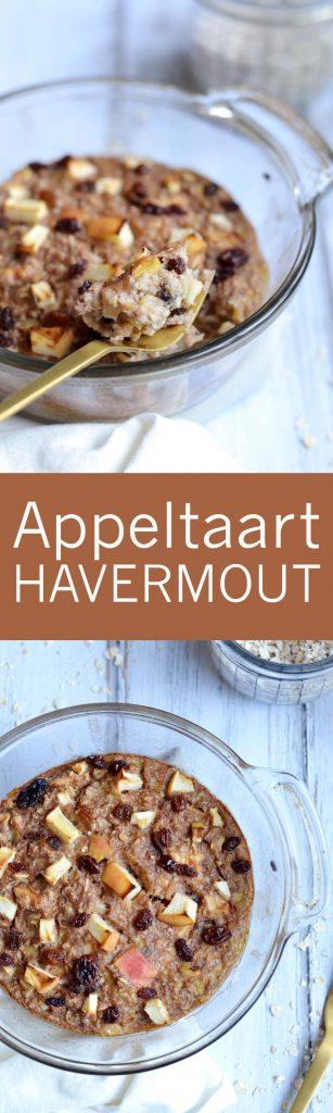 Heerlijke appeltaart havermout uit de oven!