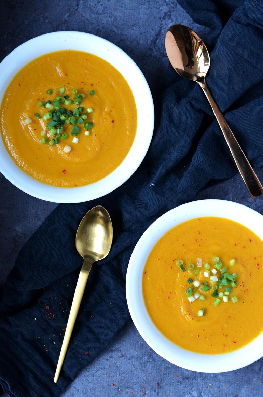 Geroosterde pompoen pastinaak soep