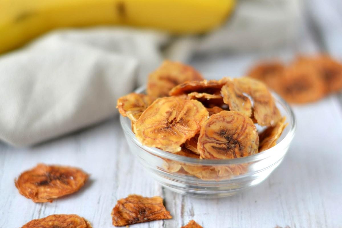 Bananenchips maken in de airfryer of oven