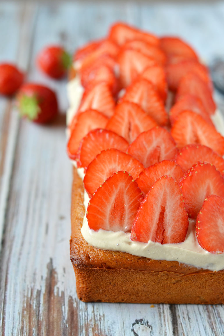 Frisse ricotta cake recept met aardbeien