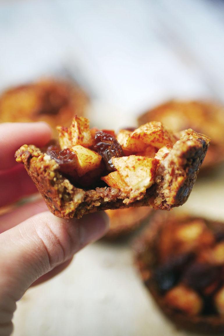 mini gezonde appeltaart met havermout