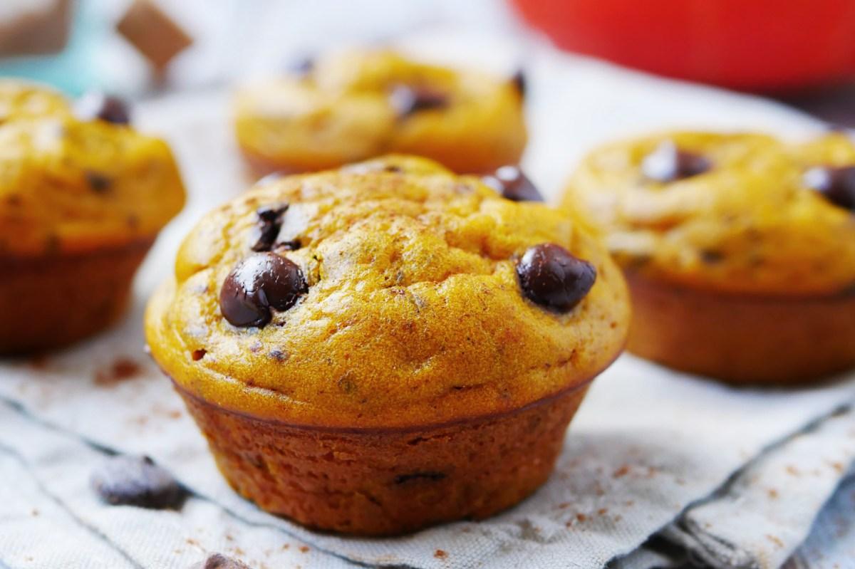 Gezonde pompoenmuffins recept met chocolade