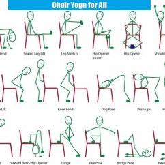 Yoga Chair Exercises For Seniors Plastic With Wooden Legs India Printable