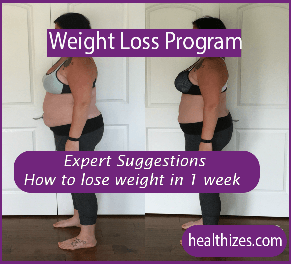 Expert Suggestions: How to lose weight in 1 week