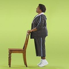 Chair Sit To Stand Exercise Yellow Modern Balance Problems Gait Poor In Elderly