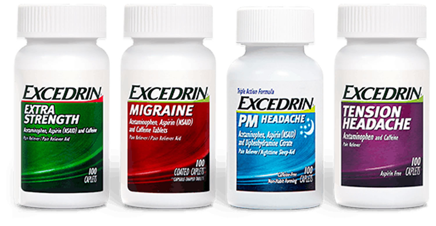 Excedrin - Uses Active Ingredients Dosage & Side Effects