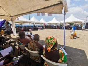 Pic 7: The chief of Teshie addressing the audience