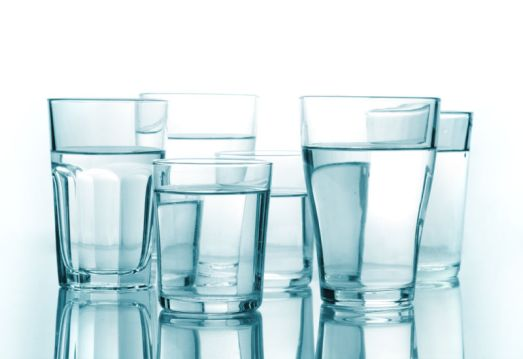 three glass and water