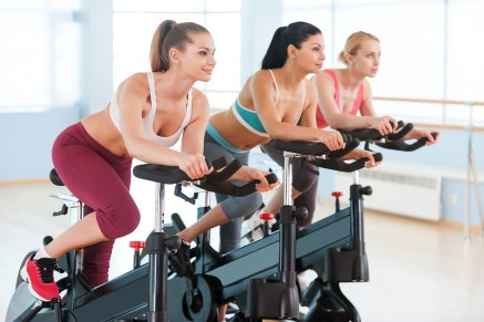 gym bike exercise by women