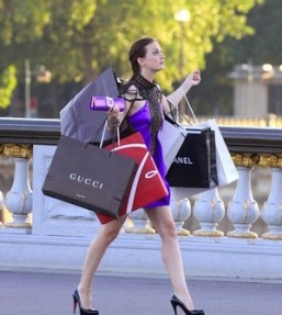 woman go to home after finishing shopping