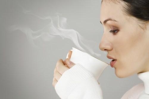 woman drink coffee