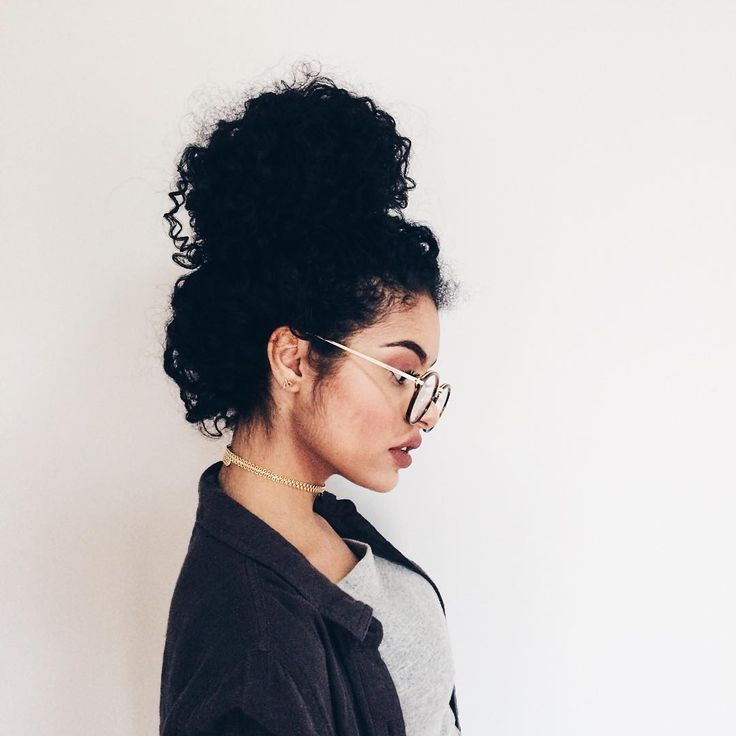 Messy High Bun Hairstyles For Natural Curls Health Love