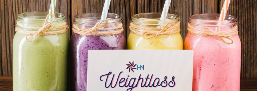 Colourful refreshing smoothies