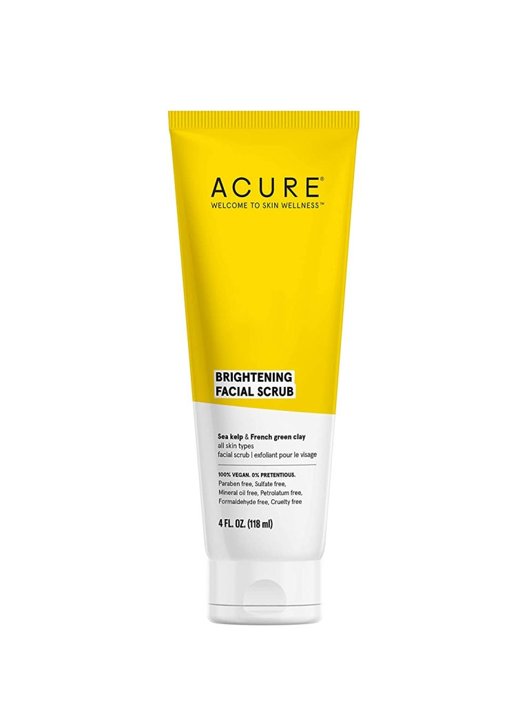 skincare product Acure Brightening Facial Scrub