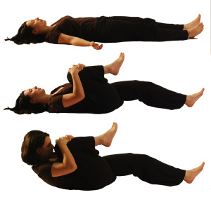 gas releasing yoga pose for belly fat