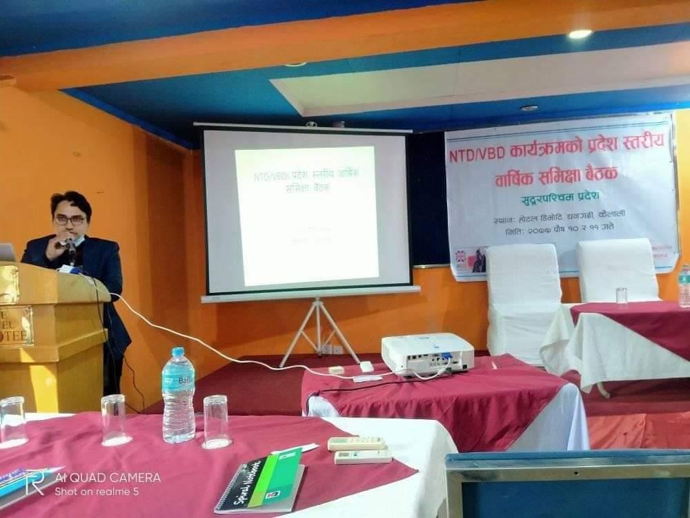 जनस्वास्थ्य अधिकृत श्री ओम प्रकाश जोशी ज्यूको सम्बोधन