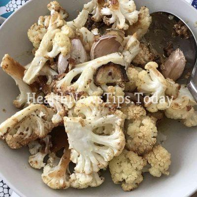 Mediterranean Roasted Cauliflower with Parmesan