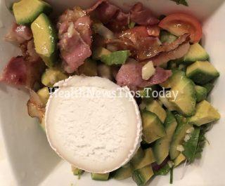 Bacon and Bûche Cheese Salad