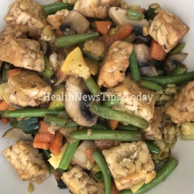 Vegetables and Tempeh In Soy