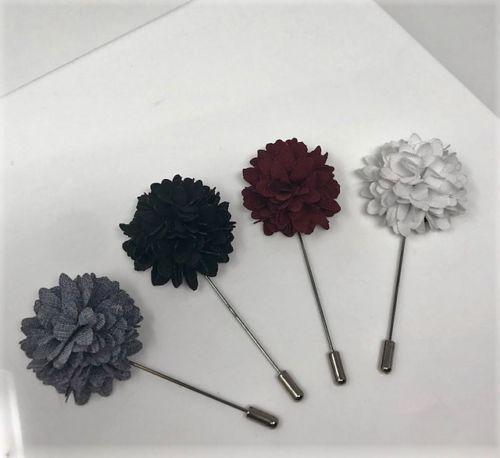 20c3e1366f6c3 Mens Lapel Flower Wedding Party Wear Accessories Floral Lapel Black ...