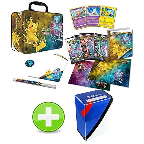 Pokemon Shining Legends Collector Chest Feat. Pikachu Mew with Great Ball Colorway Deck Box