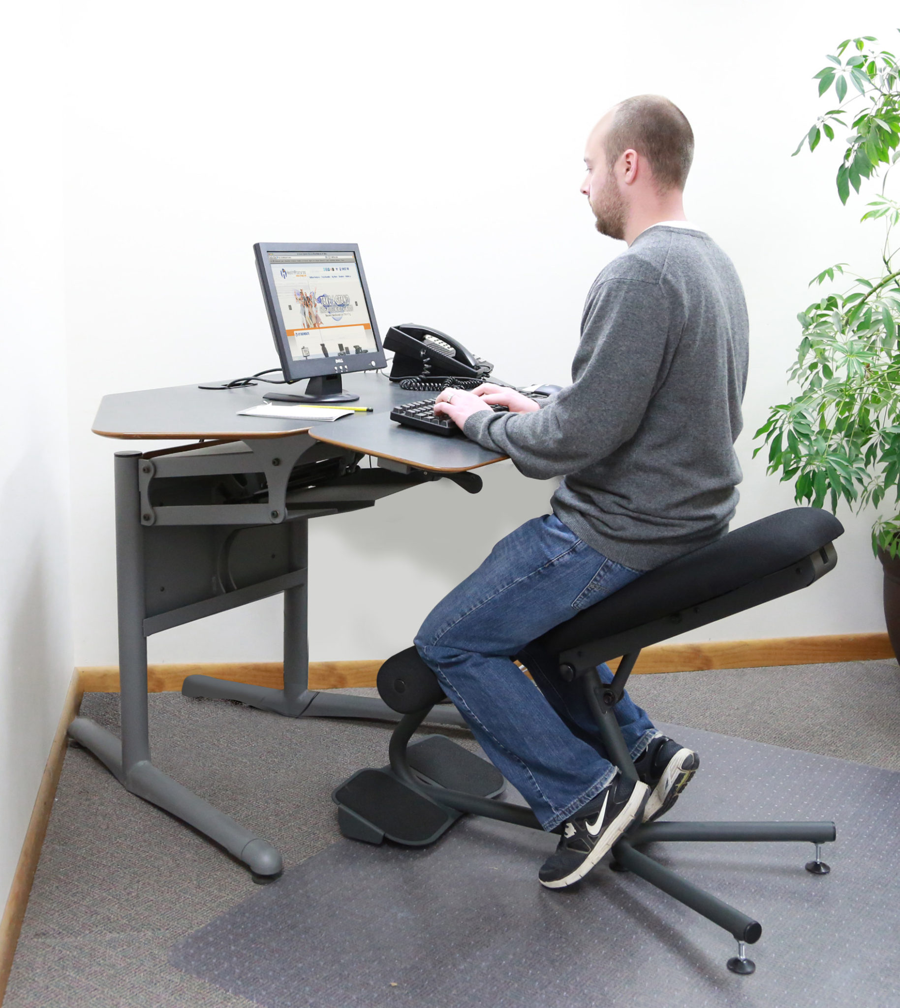 Lower Back Support For Office Chair Stance Angle Chair Ergonomic Standing Chair Healthpostures