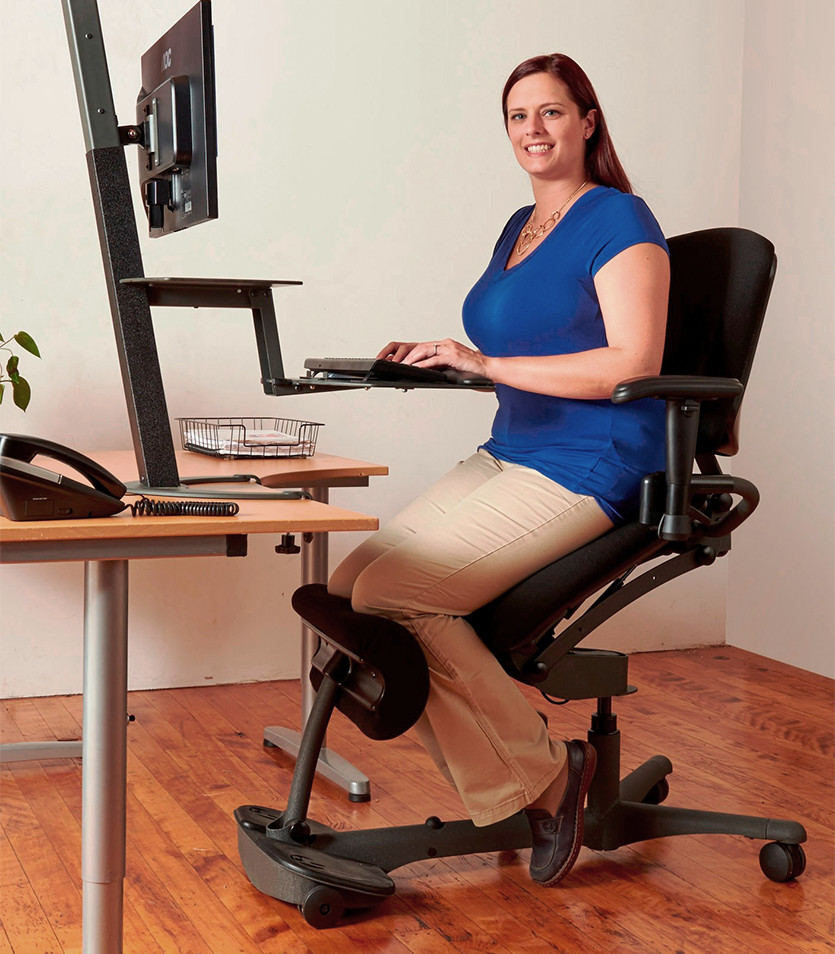 Stand Up Chair  Ergonomic Sit Stand Chair  HealthPostures
