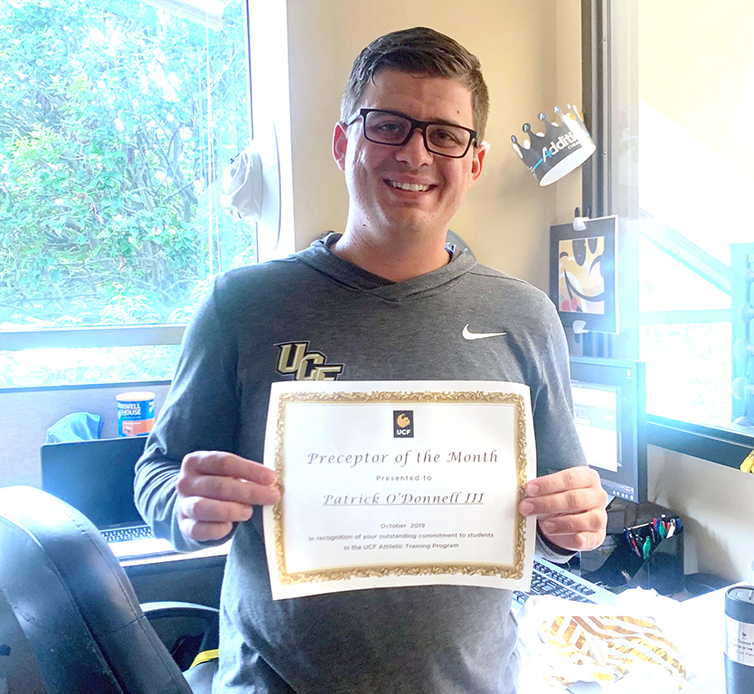 Patrick O'Donnell III Named UCF Athletic Training Preceptor of the Month for October 2019