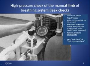 Anesthesia Gas Machine Machine checklist, Medicolegal