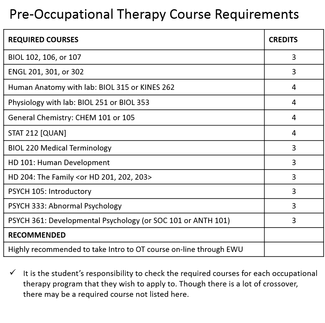 Pre Occupational Therapy