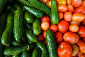 Cucumbers are high in antioxidants and mostly made of water - great for Sjogren's Syndrome diet.