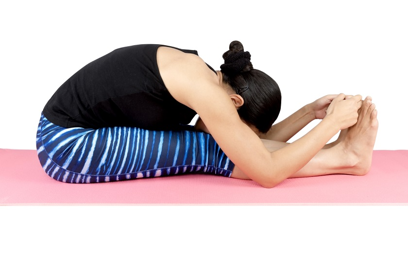 Paschimottanasana, seated forward bend images