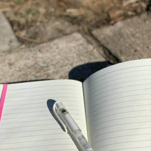 Journal with prompts and affirmations