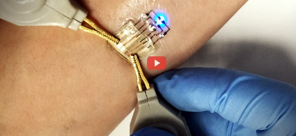 Ink Jet Printed Circuits for Smart Tattoos [video]