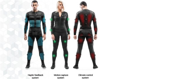 Smart Suit Gives Haptic Feedback