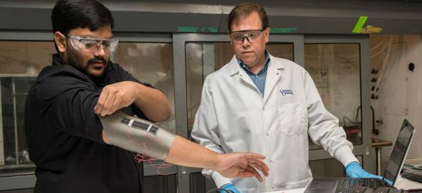 Nanotube-Coated Smart Textiles Detect Human Motion