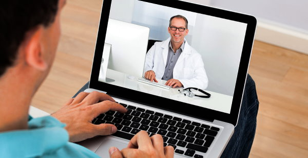 Man Having Video Chat With Doctor