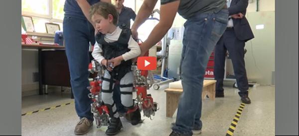 Adjustable Kid-sized Exoskeleton [video]