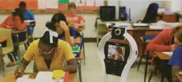 """VGo Remote Student Robot Lets Homebound Students """"Attend"""" School"""