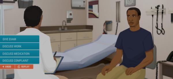 Virtual Human Simulation Training Improves Healthcare Engagement